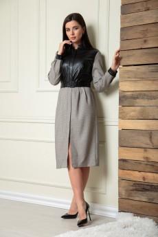 Платье 13908 серо-черный  SandyNA