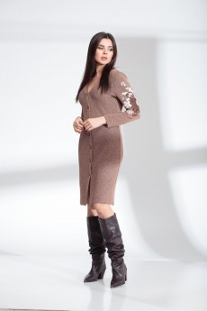 Платье  13914 серо-розовый  SandyNA