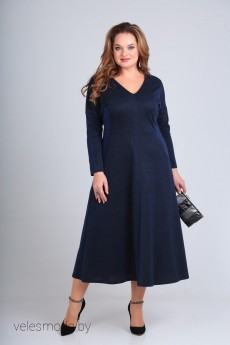Платье 1045-1 синий Shetti
