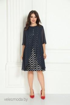 Платье 722 синий SolomeyaLux