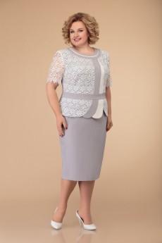 Платье 1075 серый Svetlana Style
