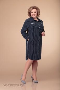 Платье 1407 темно-синий Svetlana Style