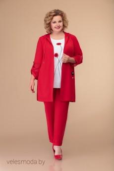 Костюм брючный 1416 красный Svetlana Style