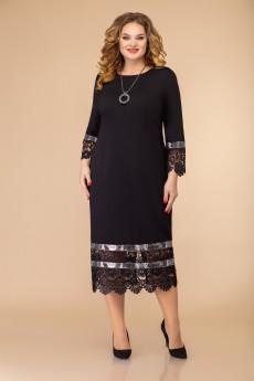 Платье 1433 черный Svetlana Style