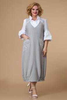 Сарафан 1506 серый + молочный Svetlana Style