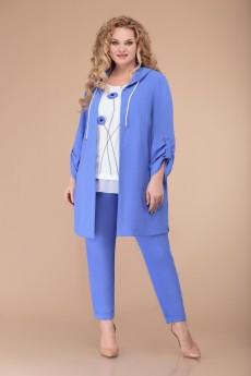 Костюм брючный 1527 голубой Svetlana Style