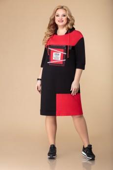 Платье 1535 черный+красный Svetlana Style