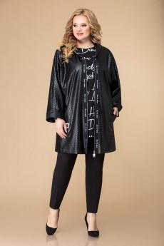 Костюм брючный 1550 черный Svetlana Style