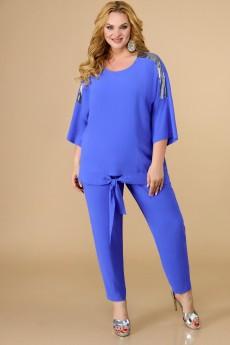 Костюм брючный 1583 голубой Svetlana Style