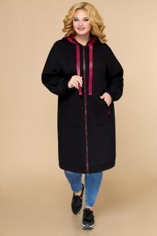 Пальто 1611 черный Svetlana Style