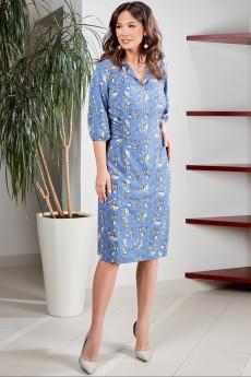 Платье 1573 голубой TEFFI Style