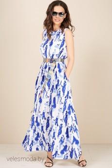 Платье 1848 бело-синий TEFFI Style