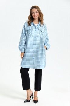 Пальто 2687 голубой TEZA