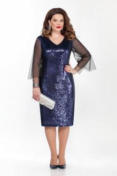 Платье 274 синий TEZA