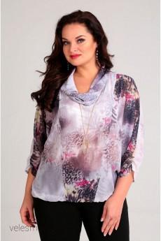 Блузка 62141 серо-розовый Tair-Grand