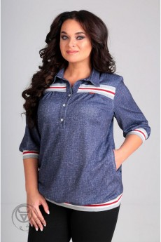 Блузка 62320 джинс Tair-Grand