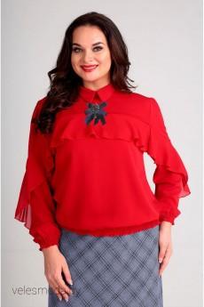 Блузка 62338 красный Tair-Grand