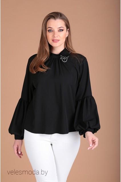 Блузка 62377 черный  Tair-Grand