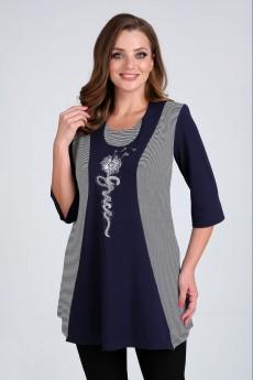 Блузка 62408 темно-синий Tair-Grand