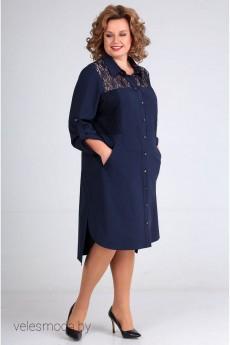 Платье 6542 синий Tair-Grand