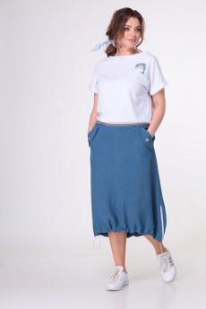 Юбка 7054 темно-голубой Tender and nice