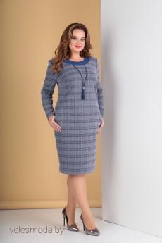 Платье 276 клетка+синий Tensi