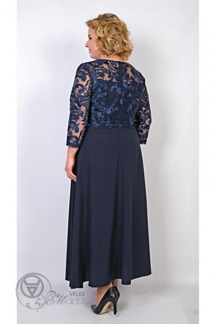 Платье 109-17 синий TtricoTex Style
