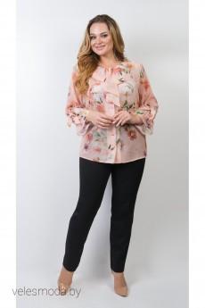 Блузка 113-17 персик TtricoTex Style