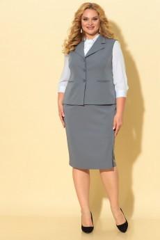 Костюм с юбкой 1736 серый TtricoTex Style