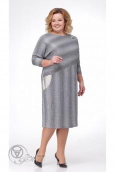 Платье 1768 серый TtricoTex Style