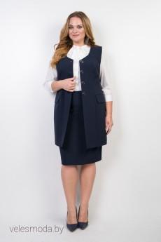 Костюм с юбкой 9517 синий TtricoTex Style