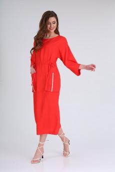 Платье 8130 коралл Tvin