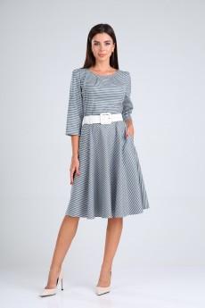 Платье 8187 сине-белый Tvin