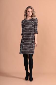 Платье 1169 серый + розовый Твой Имидж
