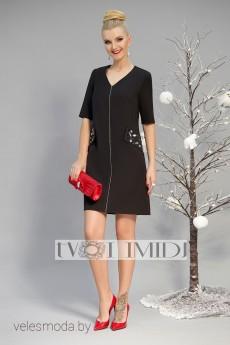 Платье 1181 черный Твой Имидж