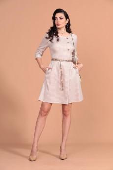 Платье 1259 молочный Твой Имидж