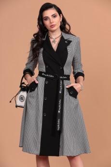Платье 1263 серый + черный Твой Имидж