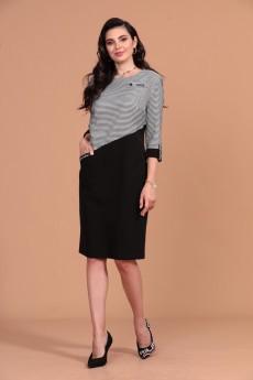 Платье 1273 серый+черный Твой Имидж