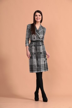 Платье 1283 серый Твой Имидж