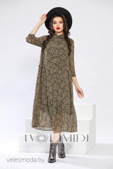 Платье 1291 хаки Твой Имидж
