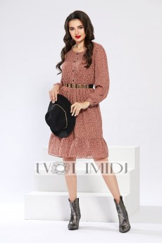 Платье 1294 пудровый Твой Имидж