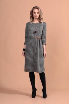 Платье 1310 серный-1 Твой Имидж