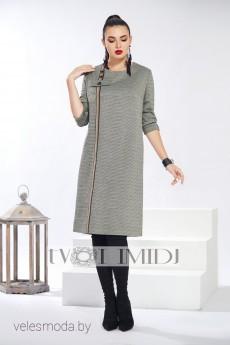 Платье 1312 оливково-серый Твой Имидж
