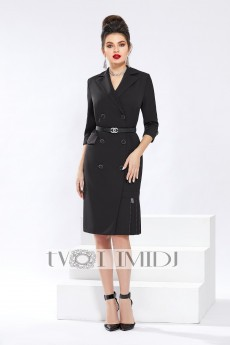 Платье 1328 черный Твой Имидж