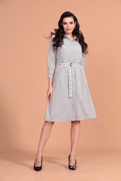 Платье 1342 серый Твой Имидж