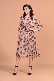 Платье 1350 песочный Твой Имидж