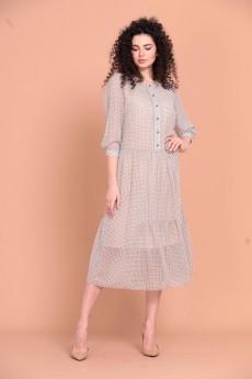 Платье 1362 молочный Твой Имидж