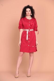 Платье 1371 красный Твой Имидж