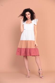 Платье 1388 белый Твой Имидж