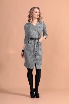 Платье 1418 серый Твой Имидж